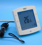 Doppelter Fühler-programmierbarer Raum-Fußboden-Heizungs-Thermostat mit Touch Screen