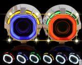 Los ojos superventas del ángel doble de 3.0 pulgadas OCULTARON la lente del proyector del Bi-Xenón