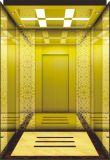 De Lift van de Passagier van de Zaal van de machine met de Auto van het Roestvrij staal van de Spiegel van het Titanium