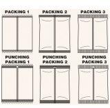 Línea de embalaje del buñuelo del equipo del embalaje de la galleta embaladora horizontal del alimento