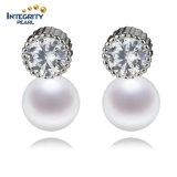 Echte runde Form-weißer Perlen-Ohrring des Perlen-Ohrring-Frauen-Perlen-Ohrring-7mm