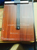 Condensador de ajuste de papel con base metálica de madera de Base&