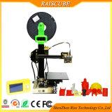 Raiscube 알루미늄 공가 소형 휴대용 Fdm 탁상용 3D 인쇄 기계 기계