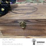 Caixa de presente de madeira da embalagem do cartão do álbum de foto de Hongdao com _E feito sob encomenda do forro