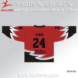 Usura della Jersey personalizzata sublimazione del hokey di ghiaccio del collo di disegno V