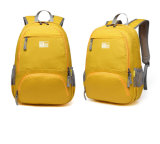 Saco de ombros forte Foldable do poliéster de Oxford do amarelo alaranjado