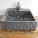 유럽식 지면 서 있는 세면기 돌 어두운 Emperador 대리석 목욕탕 수채