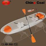 2 Asientos transparente pedal de plástico de la pesca Barco YM-01