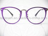 Telai dell'ottica di alluminio completi viola alla moda di Eyewear dell'occhio di gatto dell'orlo