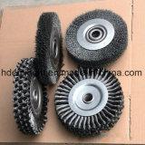 Cepillos rotatorios de la rueda de la torcedura resistente de 200m m para la soldadura
