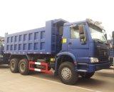 HOWO 6X4 후방 두 배 브리지 덤프 트럭