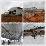 La Chine a préfabriqué l'atelier léger de structure de bâti en acier au Soudan