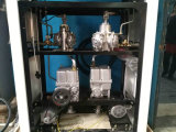 Ugelli di riempimento della stazione di pompa due due visualizzazioni dell'affissione a cristalli liquidi