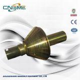 L'usura del frantoio del cono parte l'asta cilindrica principale