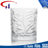 235ml花(CHM8030)が付いている極度の白いガラスビールコップ