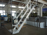 Système en aluminium d'escalier d'échafaudage avec le modèle sec