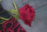 高品質衣服のための純ヤーンの刺繍の花のレースファブリック