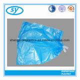 Sac d'ordures en plastique personnalisé de cordon de qualité sur le roulis