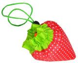 Kundenspezifischer faltbarer Drawstring-Erdbeere-Frucht-Beutel-Großverkauf