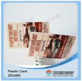Визитная карточка PVC способа конструкции франтовская прозрачная