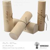 Hongdao runder hölzerner Verpackungs-Speicher-Geschenk-Kasten mit kundenspezifischem Firmenzeichen _E