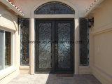 Quadratische Spitzeneisen-Doppelt-Haustüren für privates Haus