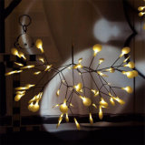 현대 크리스마스 나무 버찌 분지 Heracleum는 Glowworm LED 샹들리에 펜던트 빛을 떠난다