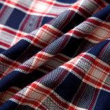 Camice dell'uniforme scolastico della flanella del plaid per le ragazze ed i ragazzi