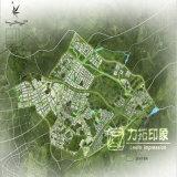 Alter Stadtsite-Plan-Farben-Bildschirm Planning