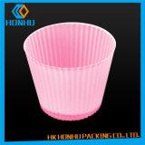 Crisol de flor plástico impermeable del PVC de los envases de plástico