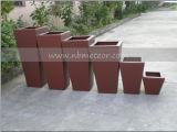 庭の一定の屋外の藤のテラスの家具(MTC-238)を食事する柳細工のソファーの立方体