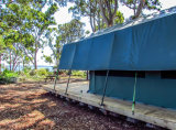 مقياس كبير إفريقيّة نوع خيش سفريّ خيمة مع غرفة حمّام [كست2002]