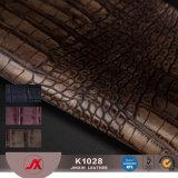 ワニPVC袋\靴のための革高品質PVC革\カー・シートの合成物質の革