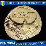 Commercio all'ingrosso antico su ordinazione della moneta del ricordo dell'oro del metallo 3D