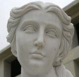 Statue di quattro stagioni femminili di marmo bianche di scultura di pietra della scultura