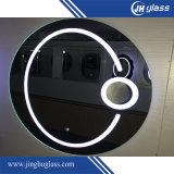 Miroir allumé par DEL de agrandissement décoratif pour l'hôtel, salle de bains, chambre à coucher