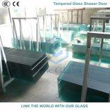 vidrio Tempered de la impresión de la pantalla de seda de 8m m para el sitio de ducha