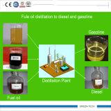 Refinação de óleo plástica à maquinaria diesel 5 Tpd da destilação