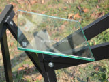 стекло плоской Polished полки 10mm Tempered с 2 отверстиями