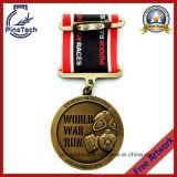 Медаль бега таможни 3D, выдвиженческое медаль спортов
