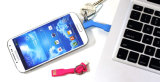 Кабель заряжателя ключевой цепи новой приватной конструкции портативный для iPhone и Samsung