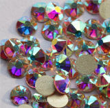 5A 새로운 Facted 8 비 Hotfix 모조 다이아몬드 (FB-SS20 결정 ab/5A)에 큰 8 작은 Ss20 4.8-5.0mm 결정 Ab 못 예술 접착제