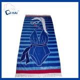 Tovagliolo 100% di spiaggia del cotone con le nappe (QHBT9903)