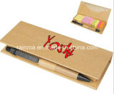 Cor Stickery Memo Pad com Pen e Ruler