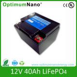 Bateria de lítio profunda do UPS da vida de ciclo 12V 40ah