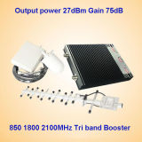 Tri aumentador de presión de la señal de la venda CDMA 850 PCS 1900 3G 2100MHz (ST-CPW27)