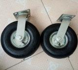 10 pollici di macchina per colata continua pneumatica di gomma nera industriale della rotella
