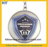 Médaille faite sur commande, 2D, émail mol, bronze antique pour le tournoi