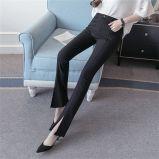 여자를 위한 최신 판매 높은 허리 쪼개지는 나팔 각반