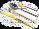 Cuchillería de lujo determinada del oro de la cuchillería de la cuchillería al por mayor del oro